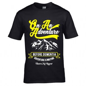 Premium Funny On An Adventure Before Dementia Design Black t-shirt Gift